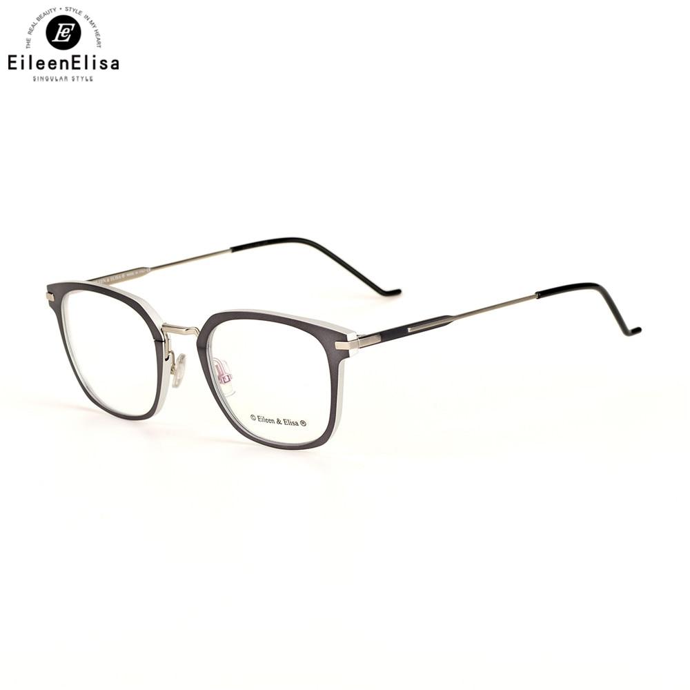 Klare c3 Fashion C1 Brillen Herren Frauen Gläser Grau De Ee Oculos c4 Rahmen Platz Titan c2 Sq6Wwg0