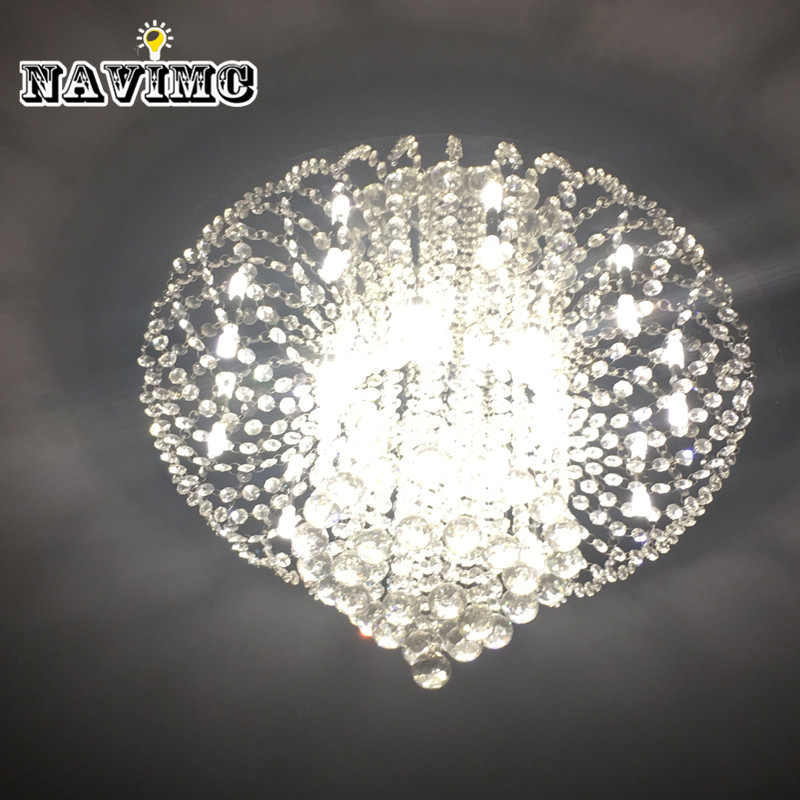 Diameter 600mm Large Crystal Ceiling Light Fixture/ Lamp, Mordern Lustre Crystal Light for Foyer Hallyway bedroom MC0563