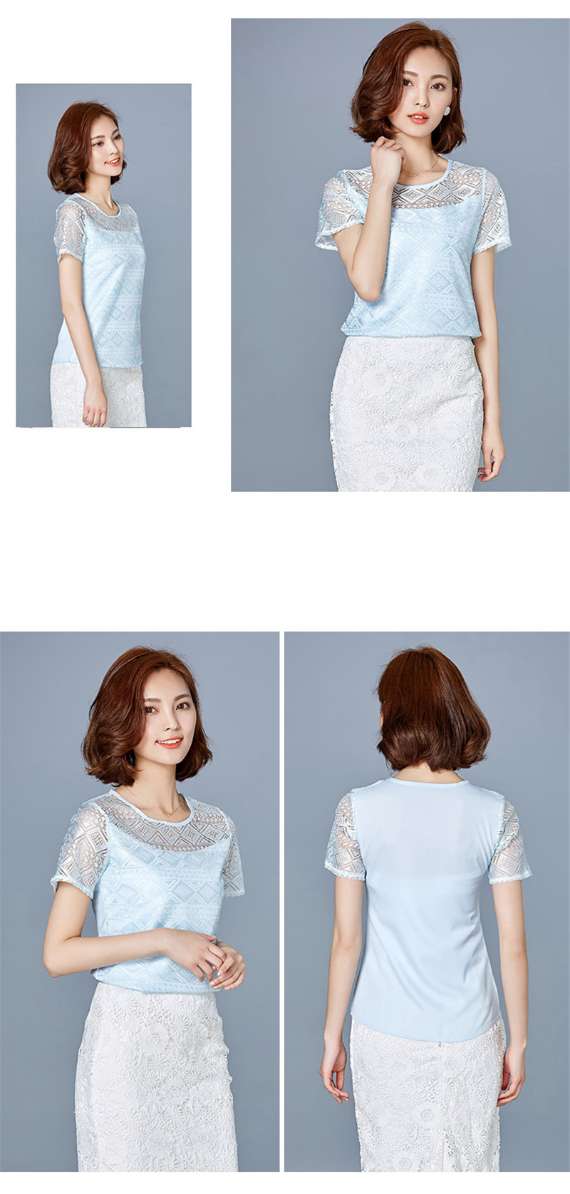 HTB1nhM3PpXXXXbuXFXXq6xXFXXX7 - New women tops lace chiffon blouse korean office female clothing
