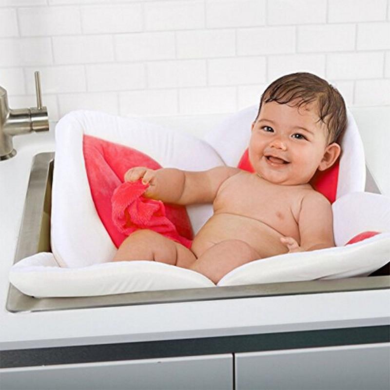 Baby Shower Soft Seat Blooming Flower Newborn Bath Mat New 4 or 7 - Piece Baby Petal Bath Tub Folds Babys Petal Baths Tub