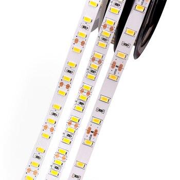 Układ Epistar SMD 5630 taśma Led Light 5 M 60 diody Led 90 diod Led 120 diody Led/m wodoodporna komercyjnych 5730 wąż świetlny LED naturalny biały 5 M