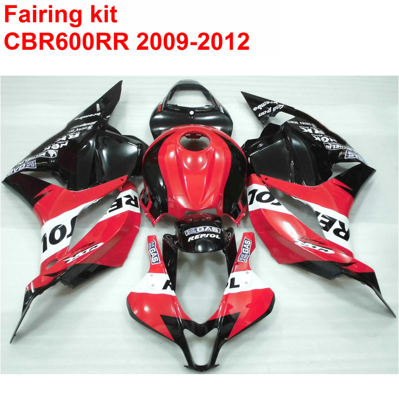 Injection molding ABS full Fairing kit for HONDA cbr600rr 2009 2010 2011 2012 CBR 600 RR red black REPSOL fairings set 09 12 LK3