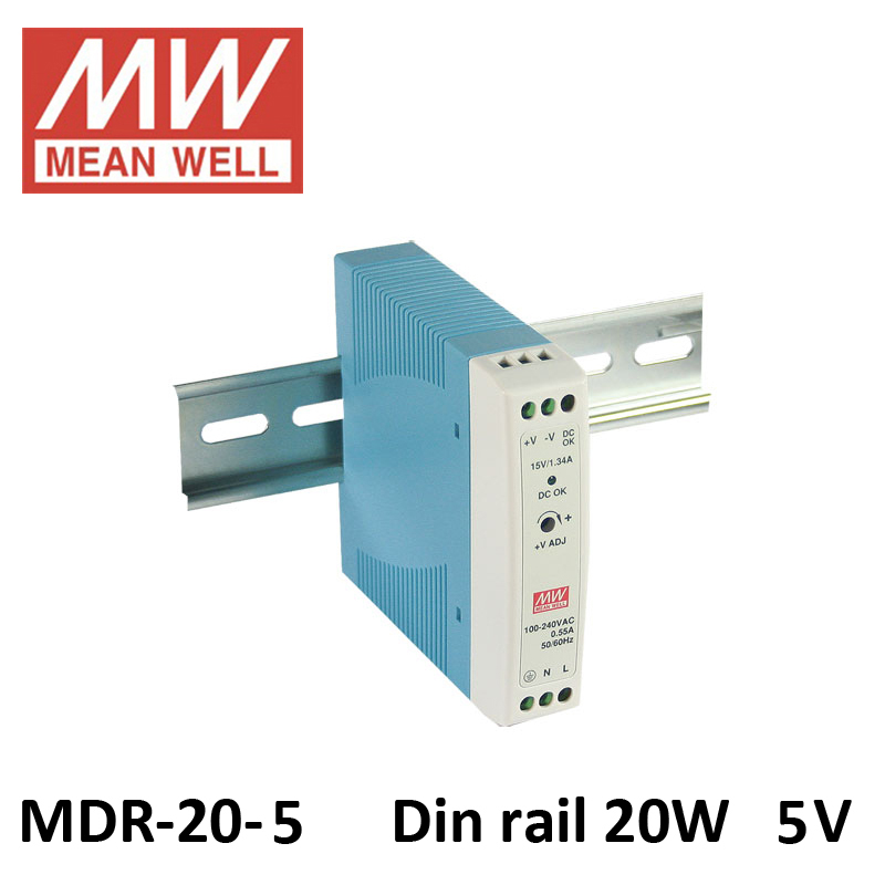 20W 5V AC TO DC power supplier IP20 non-waterproof 20W MINI din rail power supply 5V 3A