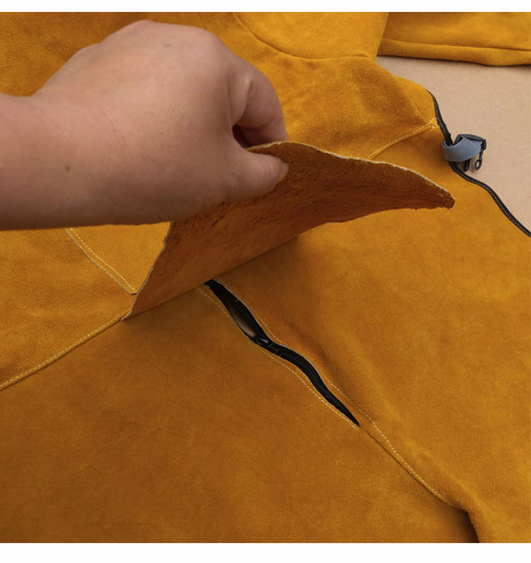 Welding Protective Clothing Cowhide Split Leather Flame Retardant Welder's Aprons Long Sleeve Leg Wrappings Work Safety Clothes (8)