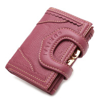 Special Clasp Closure Design Short Coin Clutch Trifold Women Wallets Purse 2017 New Fashion High Quality