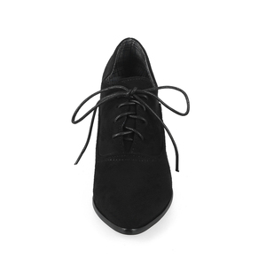 Image 3 - Pointed Toe Lace Up Women High heel Oxford Shoes Plus Size 31 43 Shoes Woman Vintage Shoes For Ladies spring autumn Casual shoes