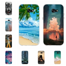 For Samsung Galaxy A5 2017 Case Soft TPU Silicone A520F Cover Beach Pattern Funda