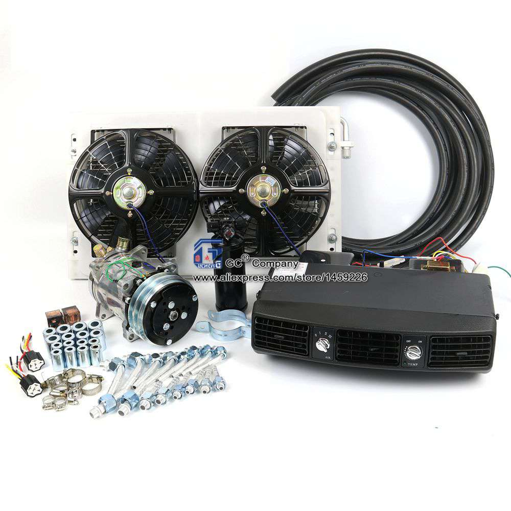 Universal Under Dashboard AC Condition Evaporator Air Vent Kit for Truck Van Tractor Jeep Street Hot