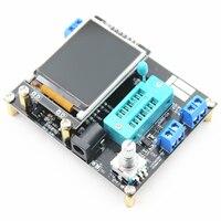Nova versão gm328a transistor tester capacitância esr tensão medidor de freqüência pwm onda quadrada gerador de sinal de solda|generator meter|capacitance tester meter|capacitance tester -