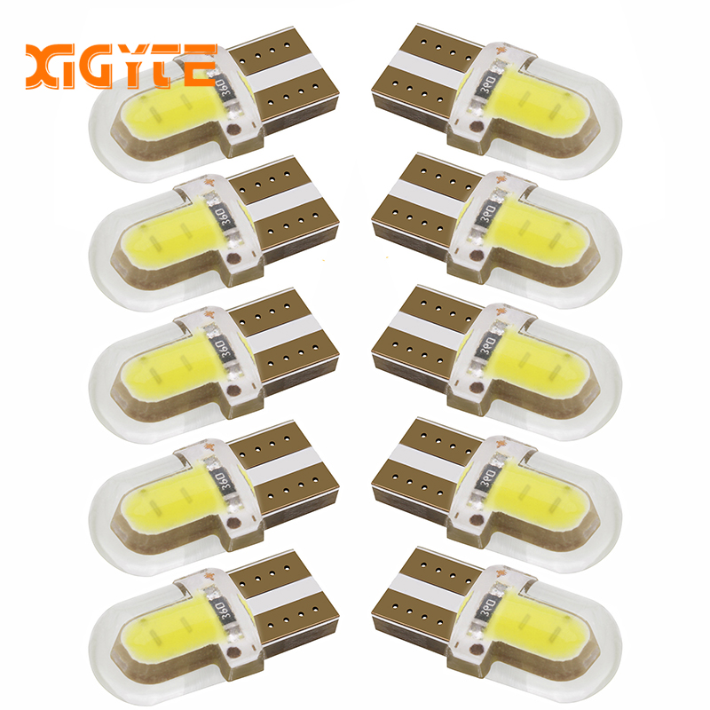 10pcs LED W5W T10 194 168 W5W COB 8SMD Led Parking Bulb Auto Wedge Clearance Lamp CANBUS Silica Bright White License Light Bulbs super bright white t10 w5w 50w 10 smd drl led bulb car auto wedge reverse signal light lamp 194 168 hot selling
