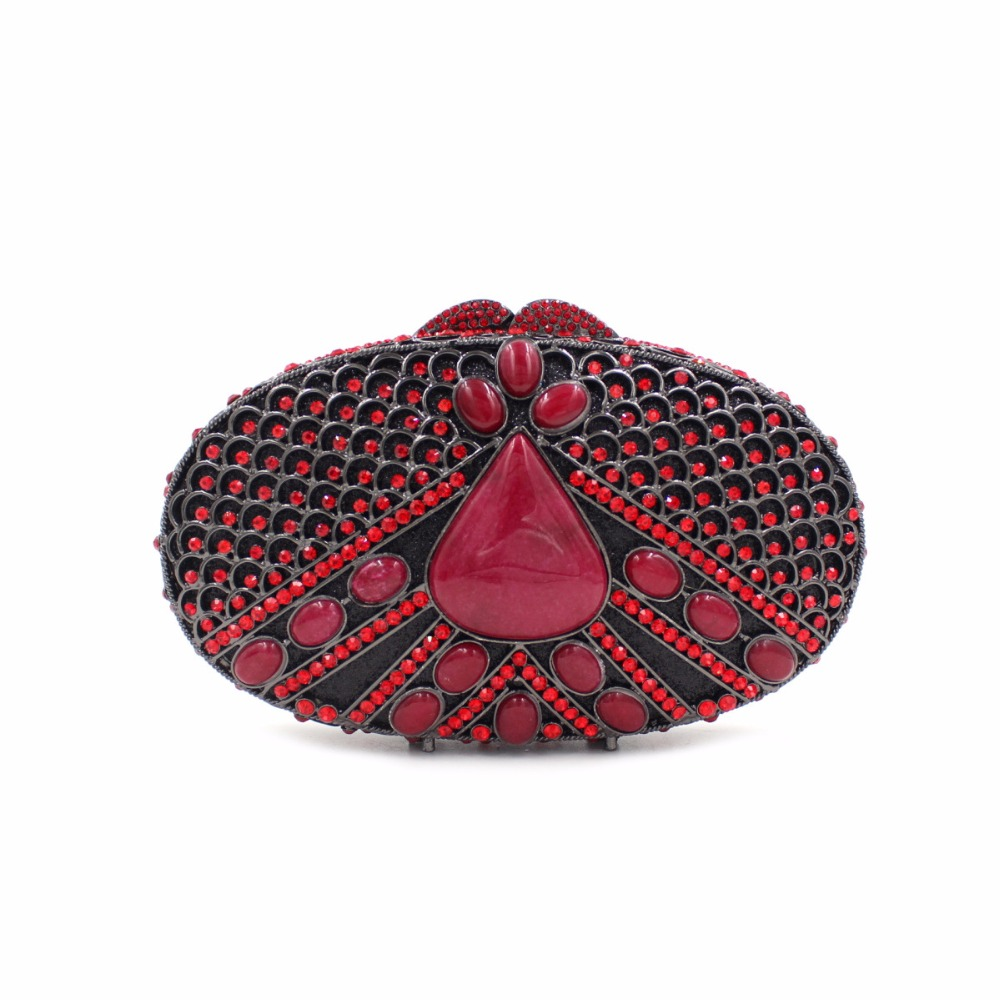 BL032 Luxury diamante evening bags colorful clutch bags women party purse  dinner bags crystal handbags gemstone wedding bags