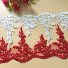 New Arrival Fashion 10 Yard/lot Motif Floral Flower Handicrafts Embroidered Net Lace Trim Ribbon Wholesale YYN463