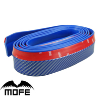 MOFE Car Styling Universal Front 2 5M Carbon Fiber Front Bumper Lip Splitter Protector Body