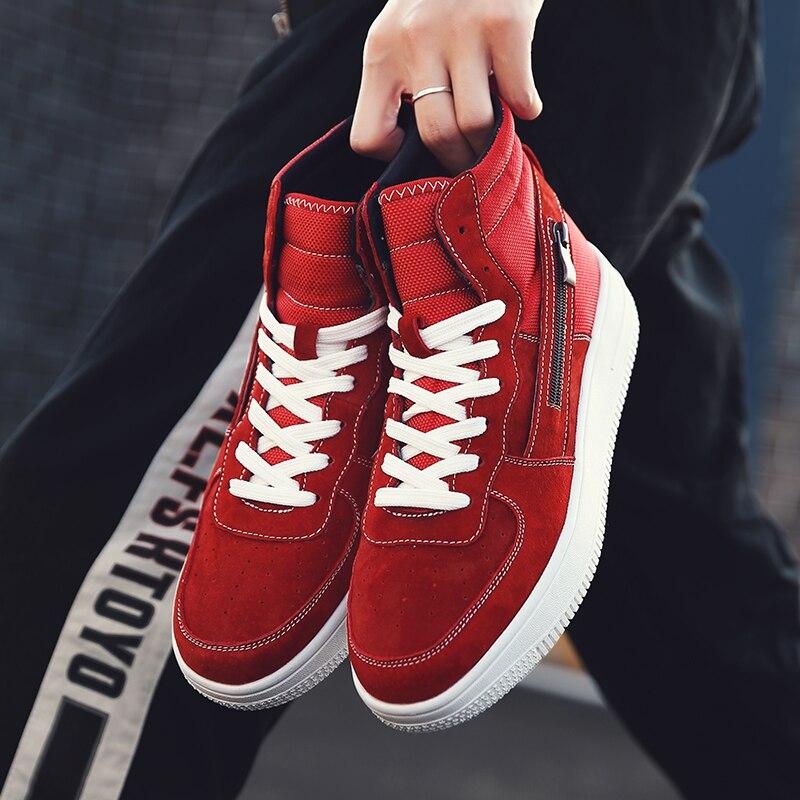 gray High Offre Originale red 2018 Pour Rouge Chaussures Black Top Spéciale Mâle Noir Hommes Marque Luxe Casual De Jeunes Confortable 64Udq