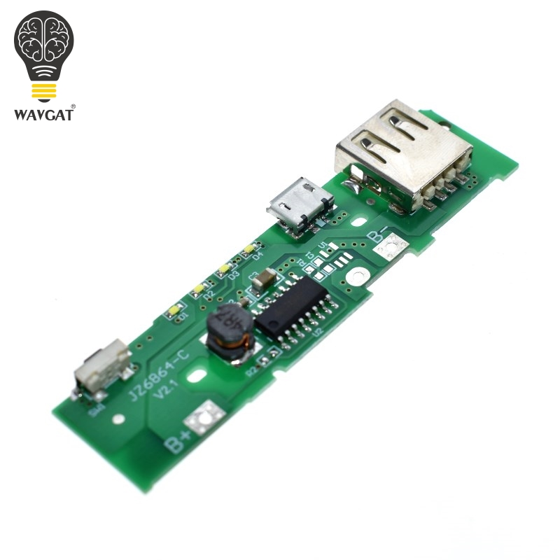WAVGAT 5V 1A Power Bank Charger Module Charging Circuit Board Step Up Boost Power Module For Xiaomi Mobile Power Bank DIY image