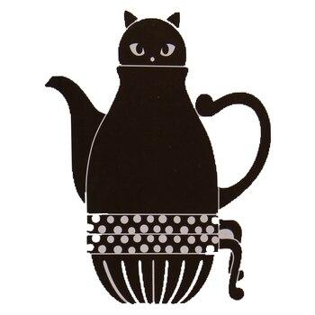 일본 고양이 주전자 귀여운 커피 세트 크리 에이 티브 만화 차 주전자 컵 세라믹 홈 우유 머그잔 귀여운 일본 주전자 1 냄비와 2 컵