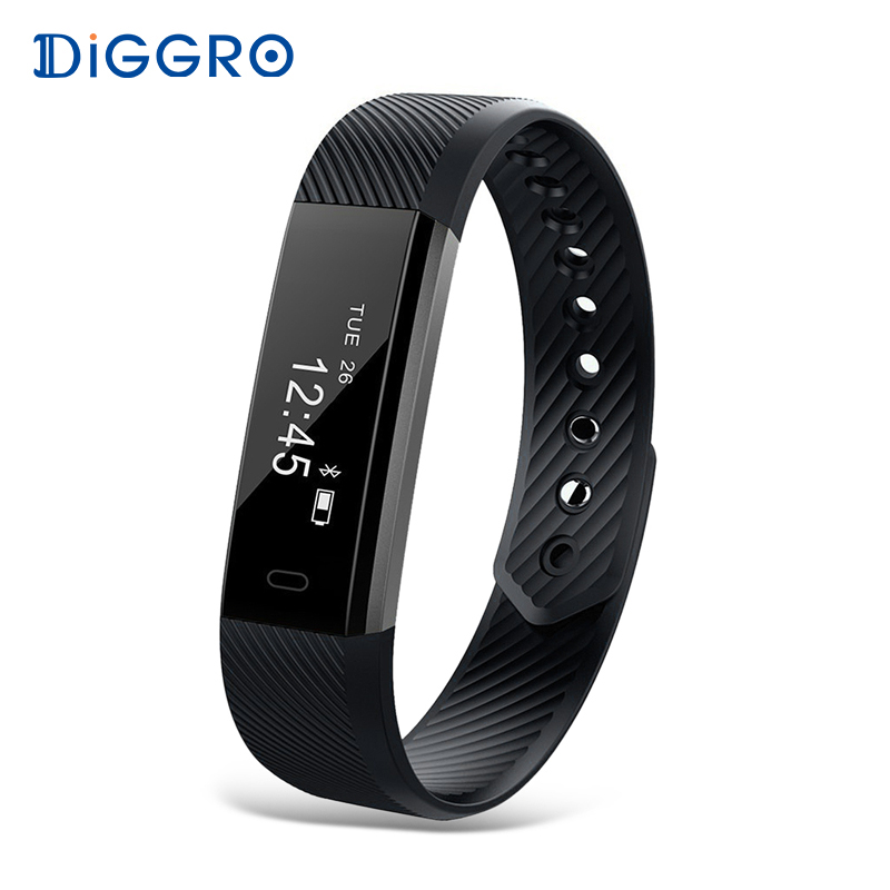 Diggro ID115 Smart Wristbands Brecelet Activity Fitness Tracker Remote Camera Bluetooth Smart Band For Android and IOS