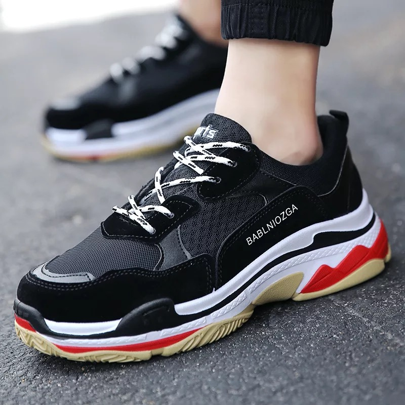 Clunky Sneaker Old Daddy Instagram Style Top Quality Sport Shoes Hiphop Design Basketball Shoes Running Shoes Males Wholesale