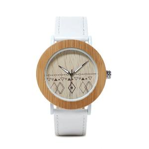 Image 3 - BOBO VOGEL WE24 Unisex Top Marke Designer Armbanduhren Für Frauen Natur Bambus & Stahl Uhren in Geschenk Boxen Dropshipping OEM