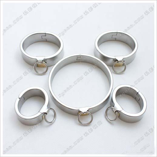 5pcs/set Heavy legcuffs handcuffs for sex and bondage collar bdsm fetish sex slaves bondage harness sextoys adults for couples