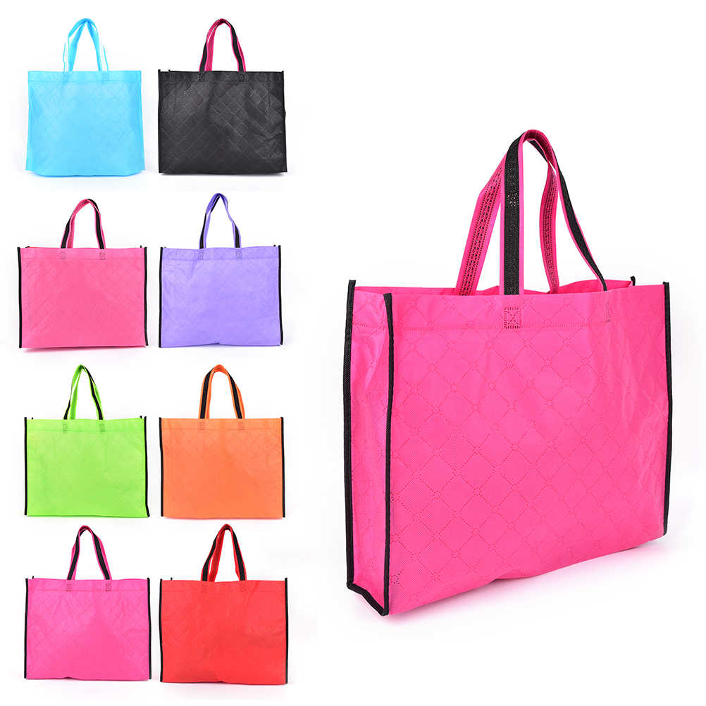 e90199eb4 1PCS Eco Shopping Bag Reusable Cloth Fabric Grocery Packing Recyclable  Hight Design Healthy Tote Handbag Wholesale