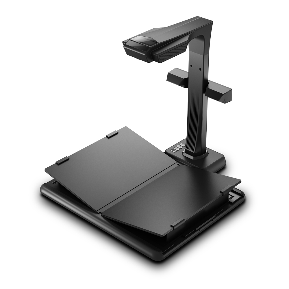 Professional High Speed Book Scanner For MaxA3 Size Bound Books With 20MP Dual HD Camera & 187 Languages OCR &  Visual Presenter