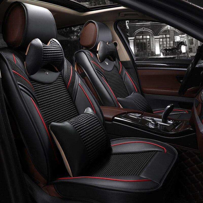 Ensemble complet Universel de voiture housse de siège auto siège couvre pour geely Emgrand EC7 EC7-RV EC8 EX7 Englon SC3 SC5-RV SC6 SC7 SC7-RV SX5
