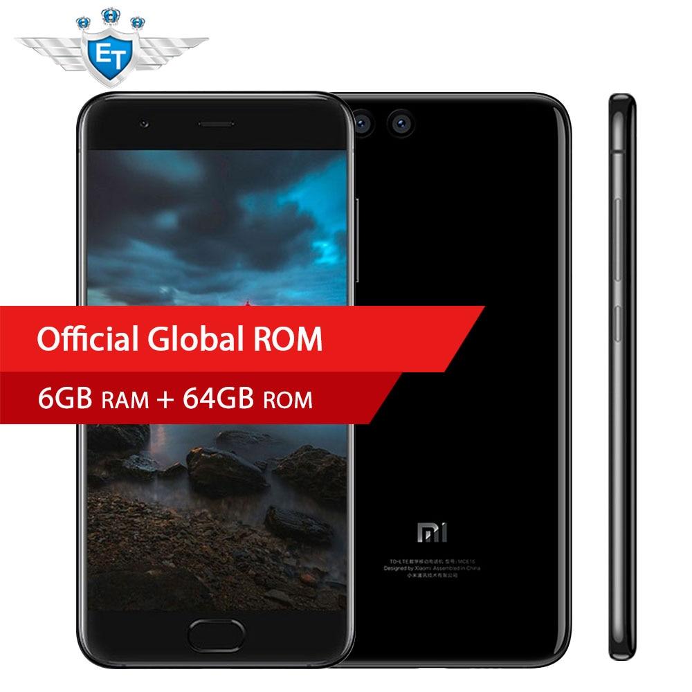 Original Xiaomi Mi6 MI 6 Smartphone 6GB RAM 64GB ROM Snapdragon 825 Quad Core 5.15'' 1920x1080 Fingerprint ID Fast Charge NFC