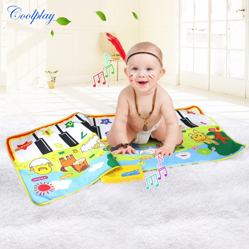 58x135CM Baby Piano Mats Music Carpets For Newborn Baby Animals Voice Touch Play Musical Carpet Mat Educational Toys | Happy Baby Mama