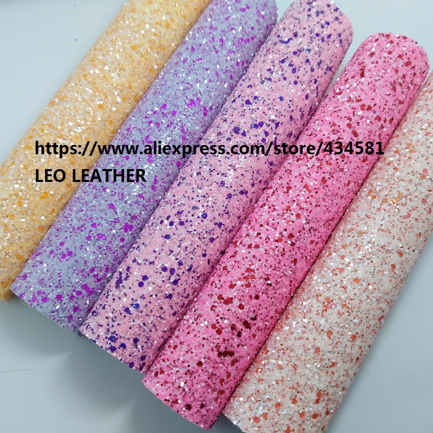 Chunky Glitter Leather Fabric PU Glitter Leather for DIY accessories P1489