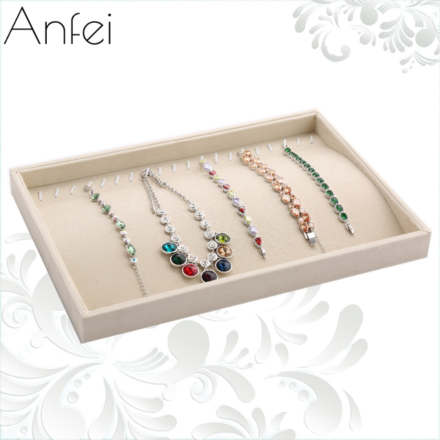 New Arival Fashion Material Jewelry Tray Rings Storage Earrings Display Necklace Organizer Bangles Pendants Show Case