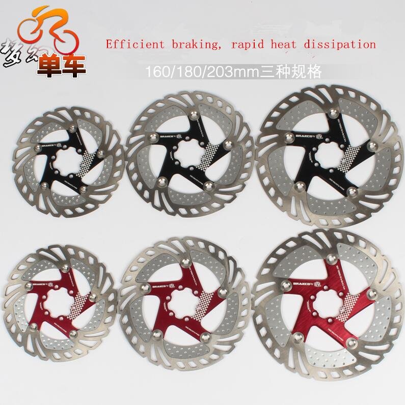DR 11FA MTB Mountain road bike bicycle floating disc brake rotor 160 180 203mm six hole disc rotors bike road bicycle alloy mechanical disc brake set rear include 160mm centerline rotor 2 brake calipers 2 g3 disc rotors