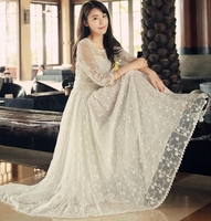 Sale 2016 Spring Summer Floor Length Sexy Party Lace Dresses Evening Women Casual Long Maxi Beach