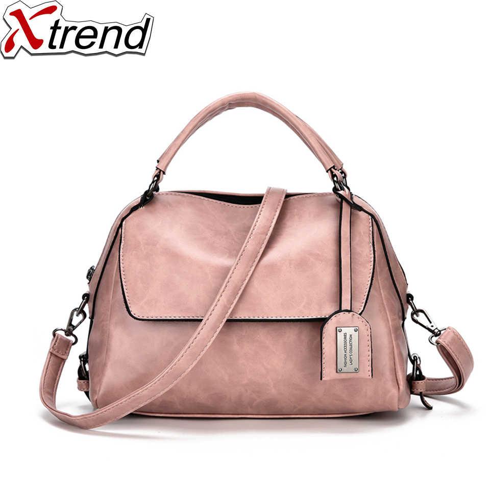 aa6b3dc7f3 Xtrend Brand Women Bag 2018 Casual Shoulder Crossbody Bags Fashion Women s  Leather Bag Handbag DJB44 Pink