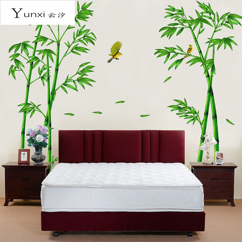 YunXi Green Deep Bamboo Forest 3D Wall Stickers Romance Decoration Wall Home Decor DIY Happy Gifts High Quality PVC Home Decals