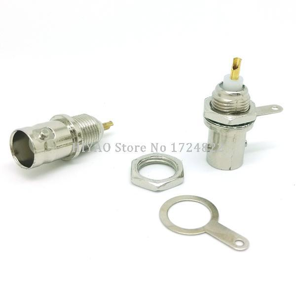 10 Pcs Soldering Twist Spring BNC Connector Jack for Coaxial RG59 cable CCTV Camera System