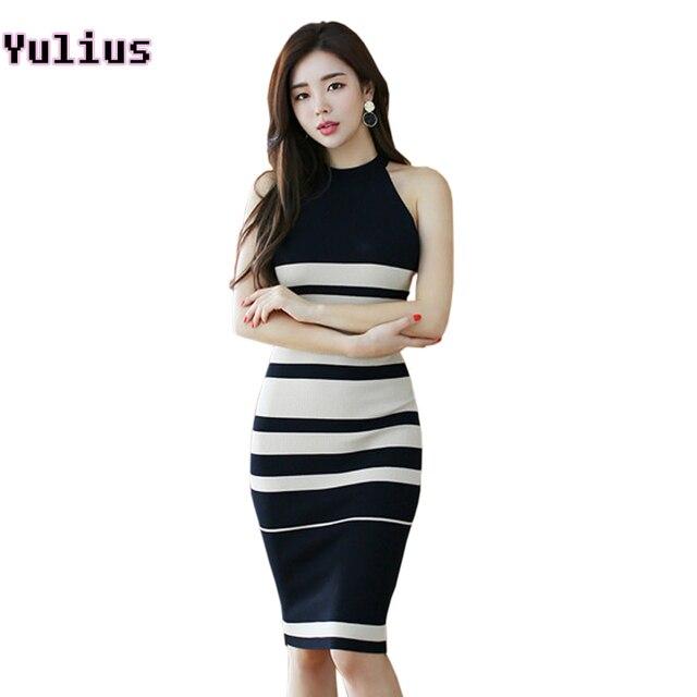 b36e6c61698cd5d В полоску дорожка вязаная летнее женское платье с открытыми плечами  сексуальное платье футляр Офисные женские туфли
