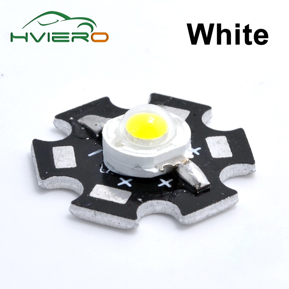 10pcs 1W High Power LED White Red Green Warm White chip Beads Lamp Bulb Chip For DIY Light with 20mm Star PCB Platine Heatsink 5 1w led bulb with ceramic housing