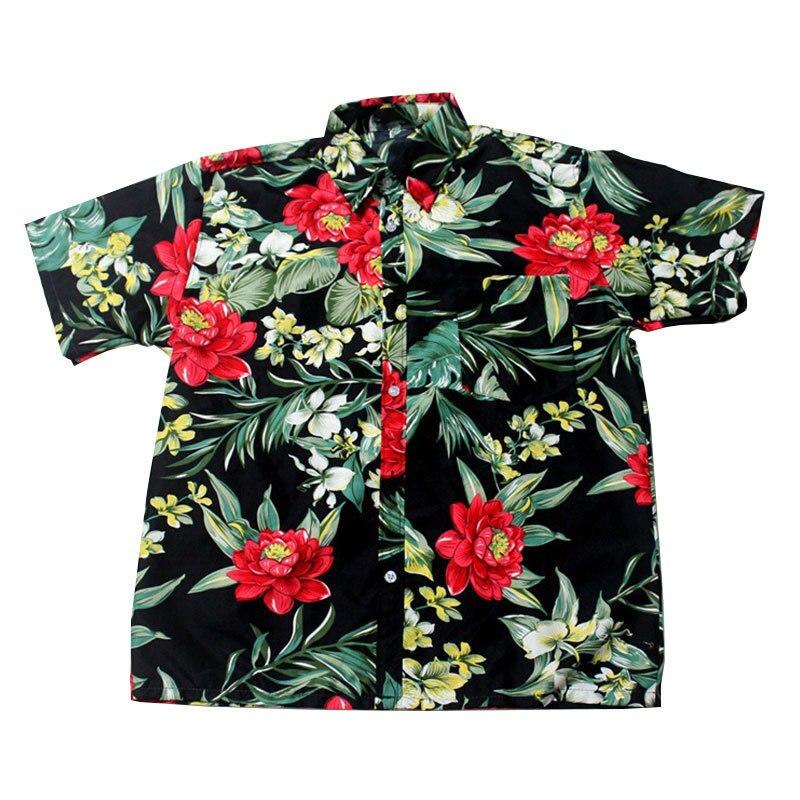 LEQEMAO Mens Hawaii Shirt Summer Beach Leisure Floral Tropical Seaside Hawaiian Shirts Plus 3XL Casual Camisas Short Sleeve Tops