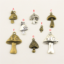 20Pcs Wholesale Bulk Supplies For Jewelry Materials Mushroom Creative Handmade Birthday Gifts Charms Making HK210