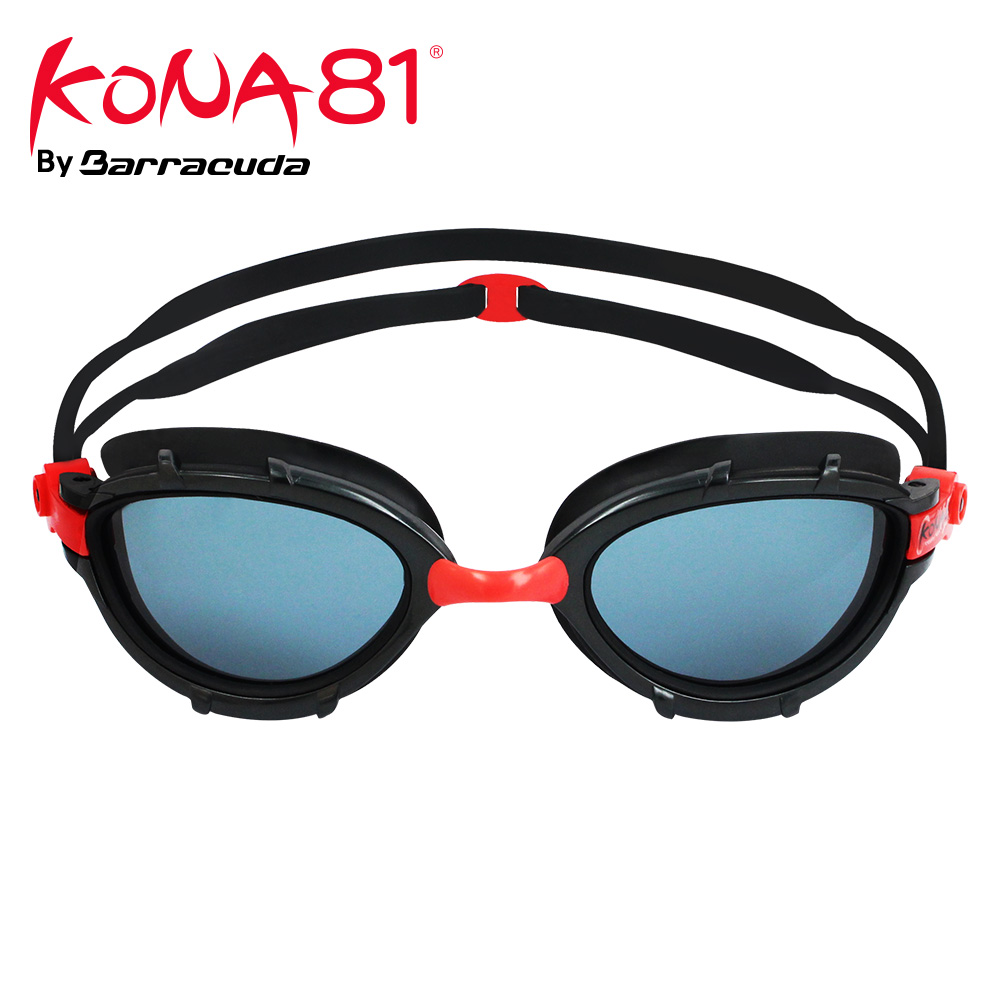 Barracuda KONA81 Swimming Goggles Triathlon Superior Anti-fog Coating Curved Lenses Wire Frame UV Protection for Adults #91213
