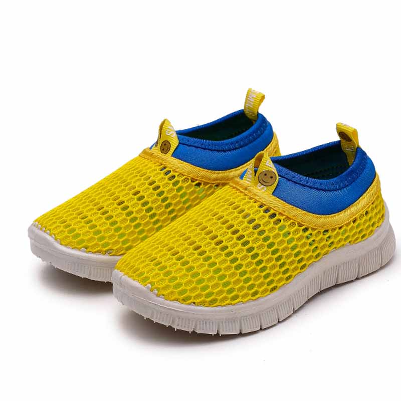 JGVIKOTO Children Beach Sandals Kids Shoes Air Mesh Breathable Cut-outs Boys Sports Sandals Girls Running Sneakers Candy Colors