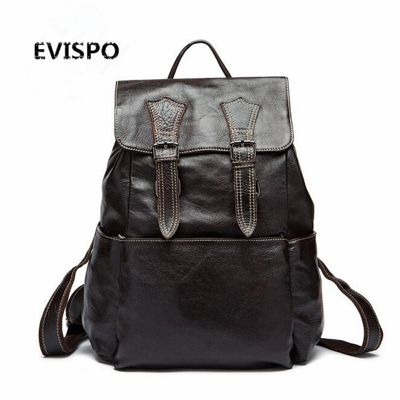Men Bag Genuine Leather Men s Backpack Male Natural Leather font b Laptop b font Computer