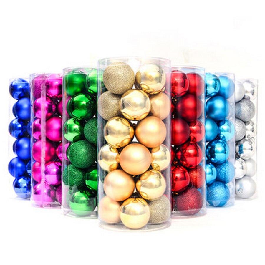 Large ornaments - Light Matt Glitter Christmas Xmas Balls 4cm 6cm 8cm Polystyrene Balls Large Christmas Tree Decoration Party