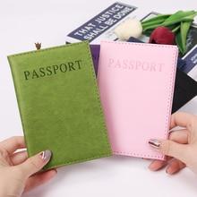 1PC Fashion New PU Women Passport Holder Couple Models Girls Travel Cover Unisex Card Case Man