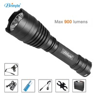 Brinyte B58U Best Hunting Flashlight Torch Waterproof Cree XM L2 LED Outdoor Flashlights with 18650 Battery ABS Tool Case Suit