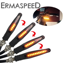 4PCS Flasher Motorcycle Led Universal Flowing Water Blinker Rear Light IP68 Waterproof Sequential Turn Signals For