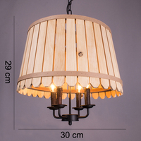 Loft Nordic retro creative antique wooden bucket chandelier for Parlor Master Bedroom Hotel Room pastoral clothing store cafe