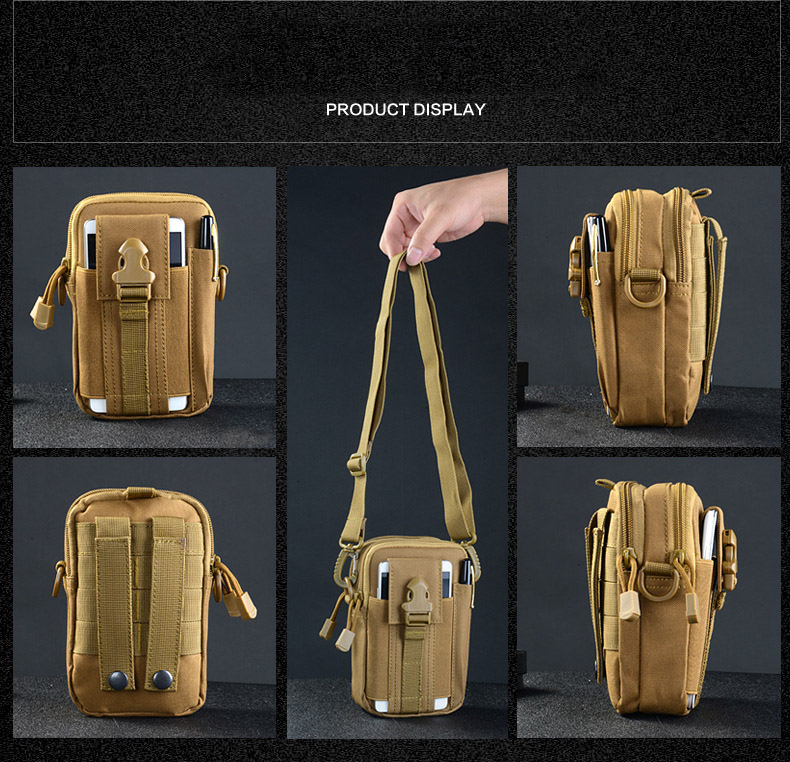 Multifunctional Camping Waist Pack Climbing Emergency Molle Survival Kits Outdoor Tactical Bag Wallet Pouch Outdoor Sport Pack (3)