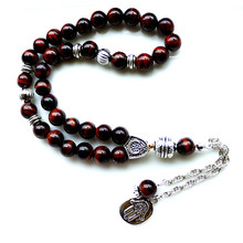 8mm brown tiger eye Stone bead Round Shape 33 Prayer Beads Islamic Muslim Tasbih Allah Mohammed Rosary For Men&Women